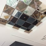 天井へのミラー貼り付け施工(埼玉某所)