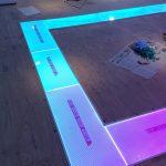 床ガラス+LED