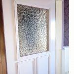 細かい石目調のガラスをトイレ窓に使われたお客様(佐賀県佐賀市K様)