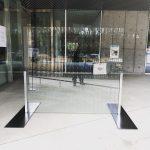 アート作品のガラスウォールになるフロートガラス(穴あけ加工)をご注文いただいたお客様(東京都八王子市G様)