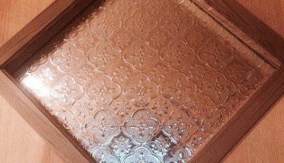 菱形のフローラガラス