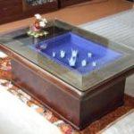 長火鉢に強化ガラスを置いて夏場でも使用可能にしたお客様