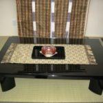 座卓のテーブルトップに強化フロートガラスを設置されたお客様
