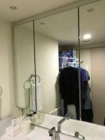 洗面所の鏡を交換されたお客様からのお写真をご紹介(神奈川県座間市A様)