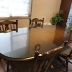 クラッシックなテーブルセットにガラスマットを設置したお客様(神奈川県横須賀市U様)