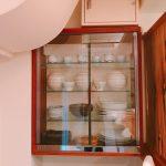 レストランの食器棚にガラス引き戸をご自分で取り付けたお客様(福島県いわき市N様)