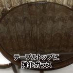 円テーブルに強化フロートガラスのガラス天板を置かれたお客様(千葉県千葉市U様)