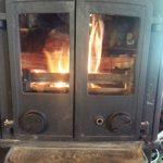 20年使用された薪ストーブに耐熱ガラス(ファイアライト)を設置されたお客様(信州、伊那市Y様)