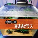 水槽の蓋に高透過ガラスを設置されたお客様(栃木県那須塩原市M様)